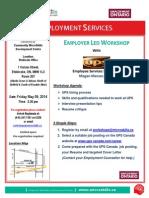 UPS Flyer Employer Led Workshop MAY 09 2014