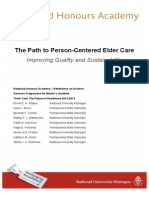 The Path to Person-Centered Elder Care
