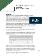 CompTIA a 220-801 Objectives 2