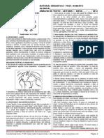 1ª AULA - UFG - 2013 - ANÁLISE DE TEXTO - POEMA E PROSA - TEORIA I