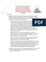 Recommendations for Transparency, Accountability and Democratic Governance in Charter Schools