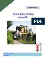 Criterios de Localización de Plantas Agroindustriales