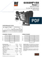 6068HF158 POWERTECH SPECIFICATIONS For Gen Set Applications
