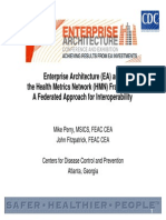 39 Enterprise Architecture (EA) and the Health Metrics Network (HMN) Framework a Federated Approach for Interoperability[Ppt]
