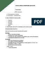 Anomalii Vasculare Și Sindrome Asociate (Suport de Curs)