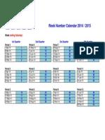 Tesco Calendar 2014-2015