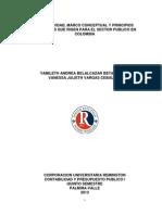 Normatividad, Cambios Contables en El Sector Publico en Colombia