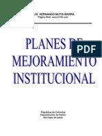 Planes de Mejoramiento Institucional