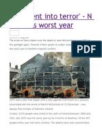 A 'Descent Into Terror' - N Ireland's Worst Year