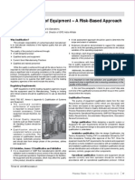 2. Qualification of Equipment – a Risk-Based Approach