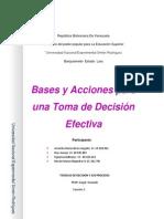 Iinforme de Toma de Decisiones Efectivas