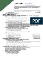 resume post-internship 1