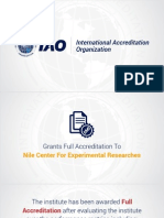 Nile Center for Experimental Research - Egypt,  Granted Full Accreditation by International Accreditation Organization