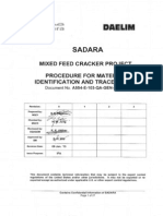Procedure for Material Identification & Traceability (Rev.0)