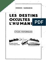 Barbarin Georges - Les Destins Occultes de l Humanite