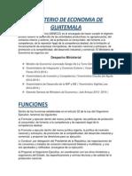Ministerio de Economia de Guatemala Investigación