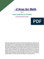 La vie d'Anas ibn Malik