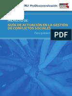 Gestión de Conflictor Sociales - Regionales