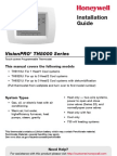 Honeywell VisionPro 8000 Install Instructions