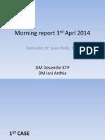Morning Report 3rd Aprl 2014