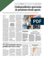 600 Mil Independientes Aportarán a Un Sistema de Pensiones en Agosto_El Comercio 7-05-2014