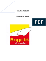 Política Distrital Bogotá Sin Dolor