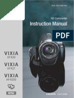 Canon Vixia Hf r20 Manual