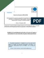 Analisis de La Participación Privada en El Sector Agua y Saneamiento