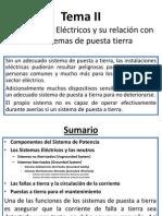 Tema II.los Sistemas Eléctricos y Su Relación Con La Tierra