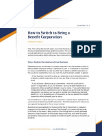 How to Switch to Being a Benefit Corporation
