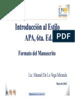 FORMATO Manuscrito APA 6ta. Ed. Manuel Miranda