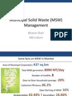 Waste Management_Bhavin Shah_IIM Indore