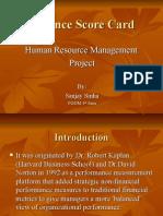 Balanced Score Card in HR