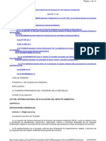 Ley 27446 -Ley del Sistema Nacional de Evaluaci+¦n del Impacto Ambiental