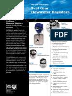 Spec Sheet Overgear Flowmeter Registers