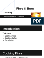 cooking fires and burn safety
