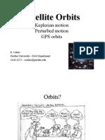 Satellite Orbits (E. Calais)