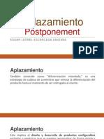 Aplazamiento Postponement