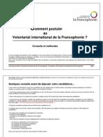 Notice Comment Postuler Au Volontariat International de La Francophonie Conseils Et Methodes
