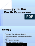 Energy in the Earth Processes