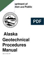 Alaska DOT Geotechnical Procedures Manual