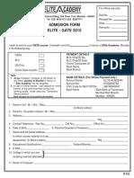 E-lite GATE 2015 Appln Form