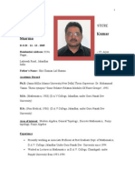 Bio-data ( DR.P.K.sharMA) as on April 2014