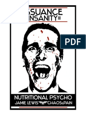 Jamie Lewis - Issuance of Insanity III  Nutritional Psycho