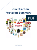 Tesco Product Carbon Footprints Summary