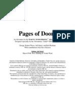 Marvel Saga Adventure - Saga Rules - Pages of Doom - [1999]