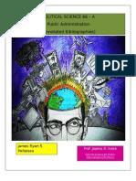 Political Science 66 - Public Administration