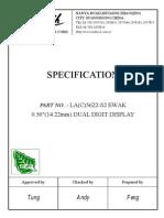7 Segment LA5622-S2 Datasheet