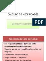 Calculo de Necesidades- Reclutamiento