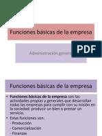 Funciones Bßsicas de La Empresa